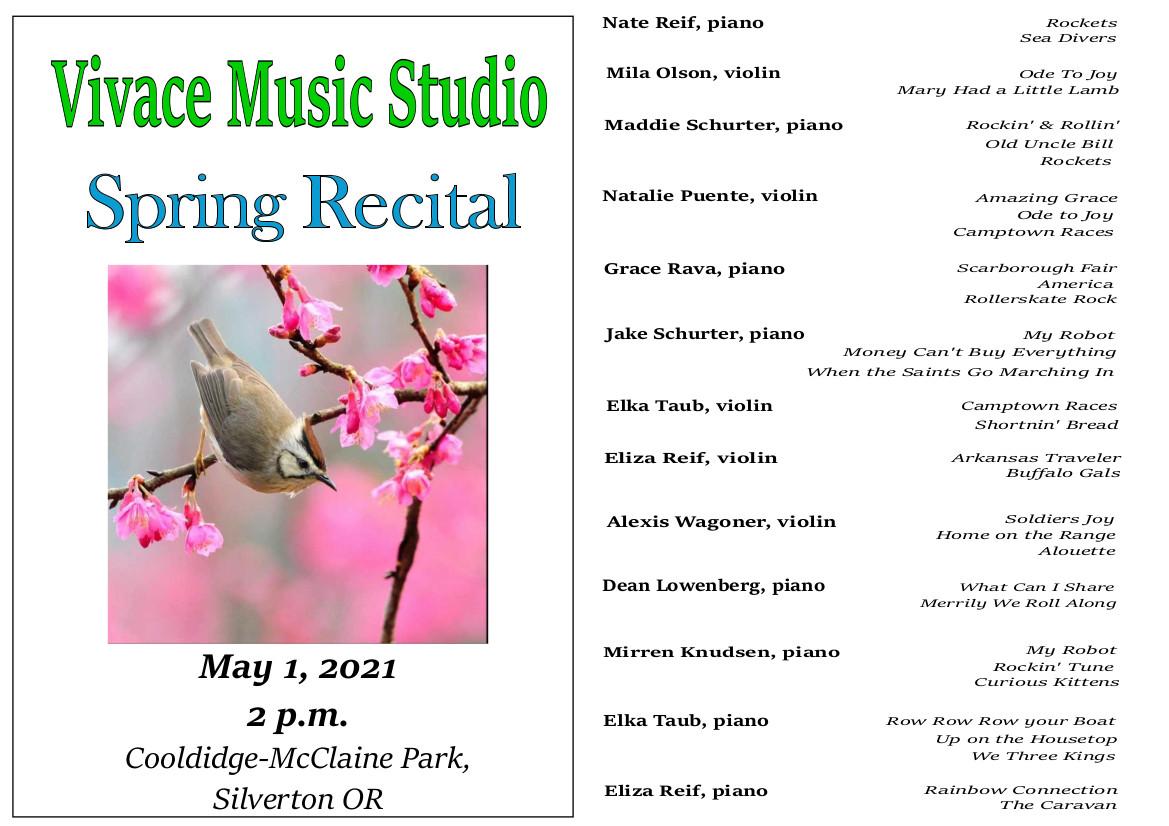 May 1 Recital 2021